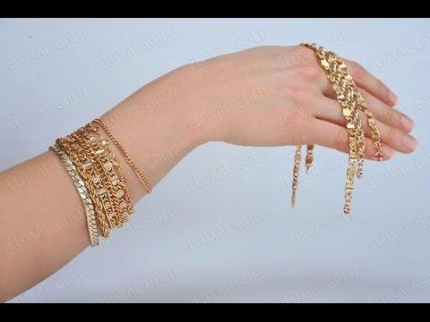 Золотые Женские Браслеты на руку - фото - 2017 / Gold Womens bracelet on his hand - Photo