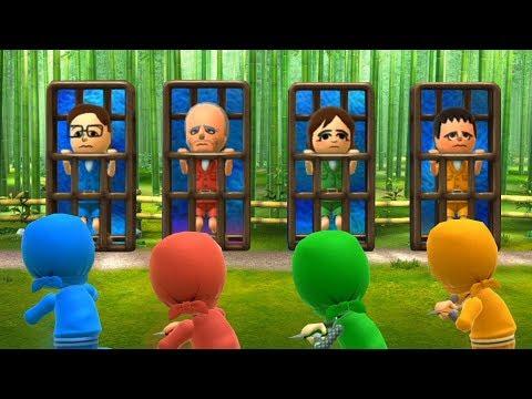 Wii Party U Minigames - Player Vs Jesús Vs Marit Vs Dunbar (Master Difficulty)