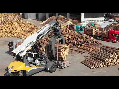 Liebherr - LRS Log Handler: Effizienter Holzumschlag