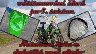 Opravy škod - zadní kolo a věci okolo (Babetta 210)
