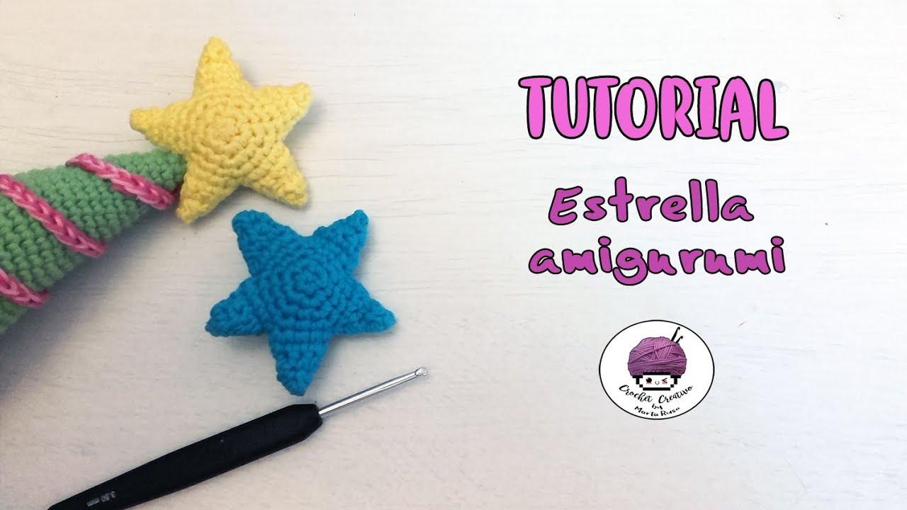 Estrella Amigurumi - PATRÓN + TUTORIAL/ Amigurumi star - PATTERN ...