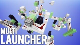 Minecraft: Mega Slimeblock Multi Launcher! [Slime Coaster!]