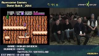 Ninja Gaiden NES :: Live SPEED RUN (0:12:29) by Dxtr #AGDQ 2014