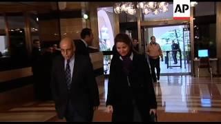 European ambassadors meet Arab League observers