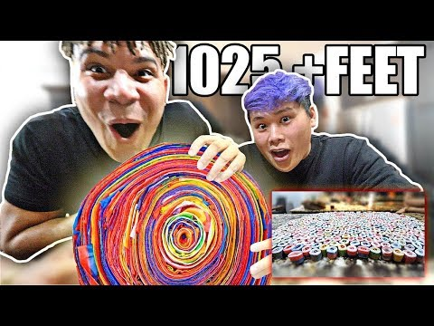 WORLD'S LARGEST Fruit By The Foot (10,000+ CALORIES) DIY