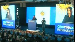Discurso triunfo fórmula Cristina Kirchner - Boudou en Elecciones Generales 2011