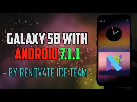 Samsung Galaxy S8/S8+ with Android 7.1.1   Renovate Ice Note 8 Port