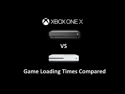XBOX One X vs XBOX One S Game Load Times (HDD and SSD)