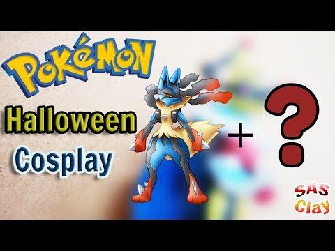 Pokemon Clay Art Tutorial - Mega Lucario cosplay ( Halloween edition ) thumbnail