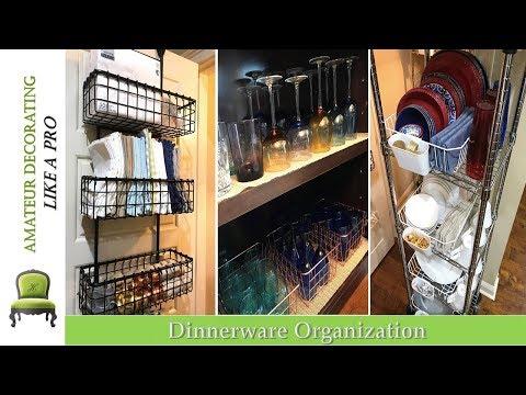 Dinnerware Organization And Storage