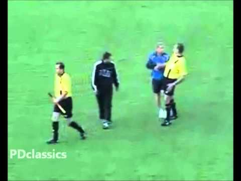 Drunk Referee Escorted off the pitch