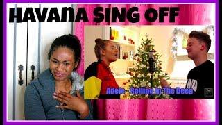 Conor Maynard - Camila Cabello - Havana (SING OFF vs  My Little Sister)   Reaction