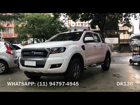 Ford Ranger 2019 - Estribo Tubular Cromado CCF - Acessórios Ford Ranger 2019 - Dk136 Acessórios