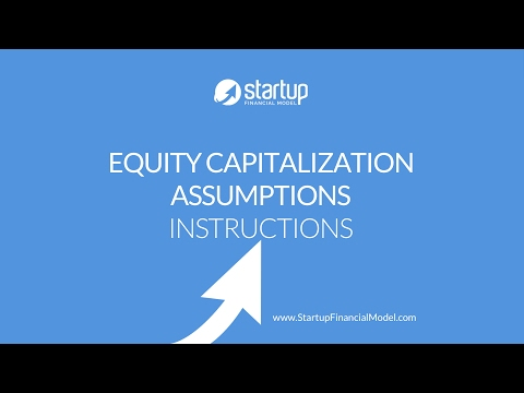Startup Financial Model - Entering Venture Capital Investment Assumptions