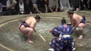 20140926 大相撲秋場所13日目 遠藤vs照ノ富士.