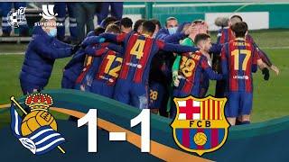 RESUMEN | Real Sociedad 1-1 (2-3 pen.) FC Barcelona. Semifinal de la Supercopa de España