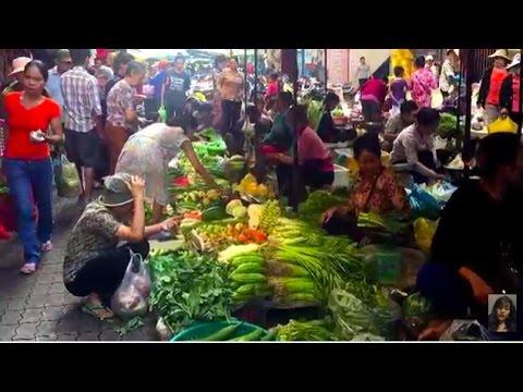 Asian Street Food, Walk Around Market Food In Cambodia, My Village Food