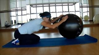 Растяжка с фитболом / Stretching with fitball