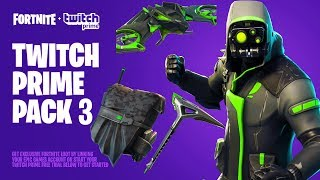 HOW to GET THESE *NEW* SKINS for FREE in FORTNITE! NEW TWITCH PRIME PACK 3 RELEASE DATE in FORTNITE?