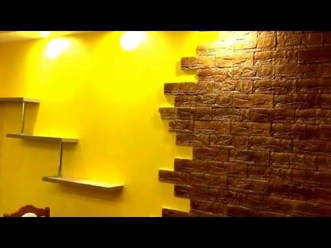 СТРОЙЦЕНТР - отделка диким камнем кухни в квартире в Саратове в ЖК Царицынском