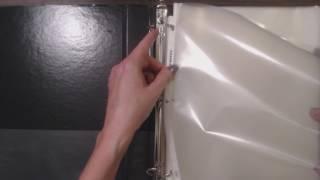 ASMR ~ Handling Plastic Paper Sheet Protectors / Crinkling / Placing in Binder (No Talking)