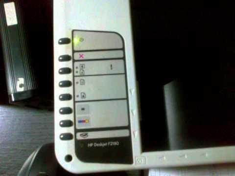HP Deskjet F2180 - YouTube