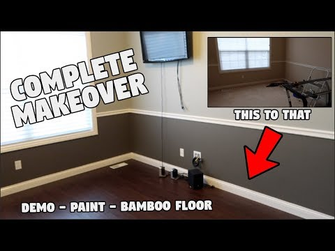 DIY HOME OFFICE MAKEOVER (completely renovated) Part 1
