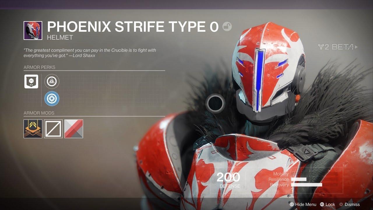 Destiny 2 Full Phoenix Strife Type 0 Armor Set Titan