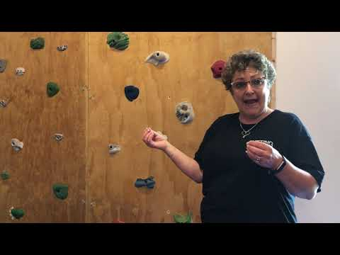 How We Use Our Rock Wall For Therapy