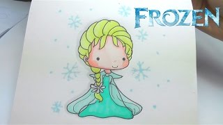 How to Draw FROZEN ELSA - Step by Step Easy