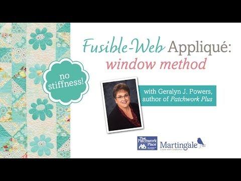 Fusible-web Applique: Window Method (no Stiffness!)