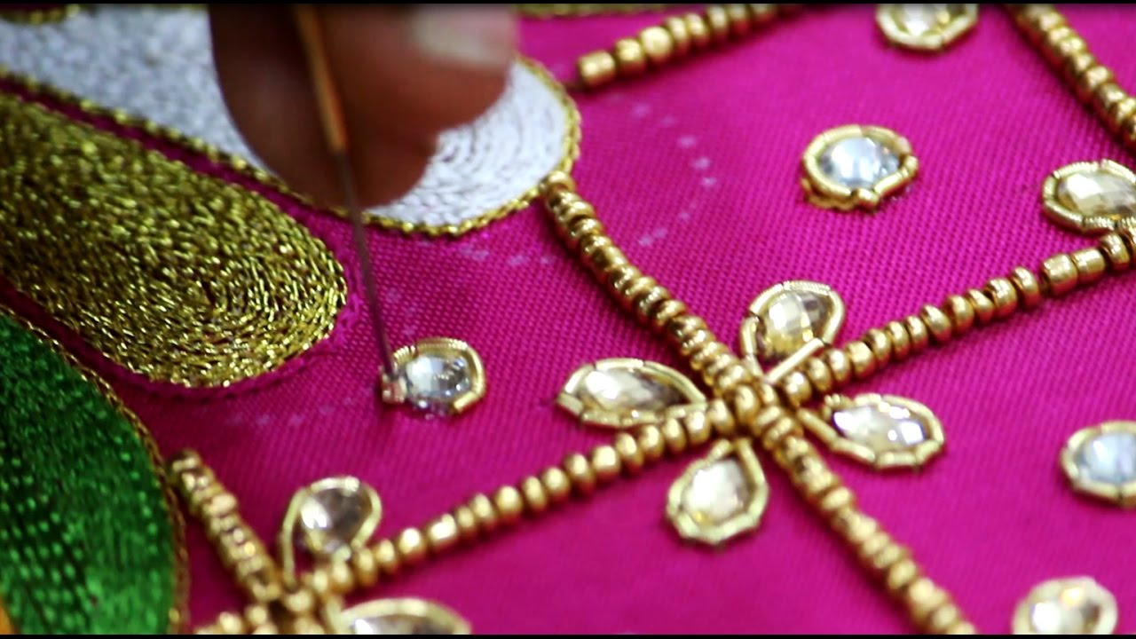 Beads Work Design On Dress