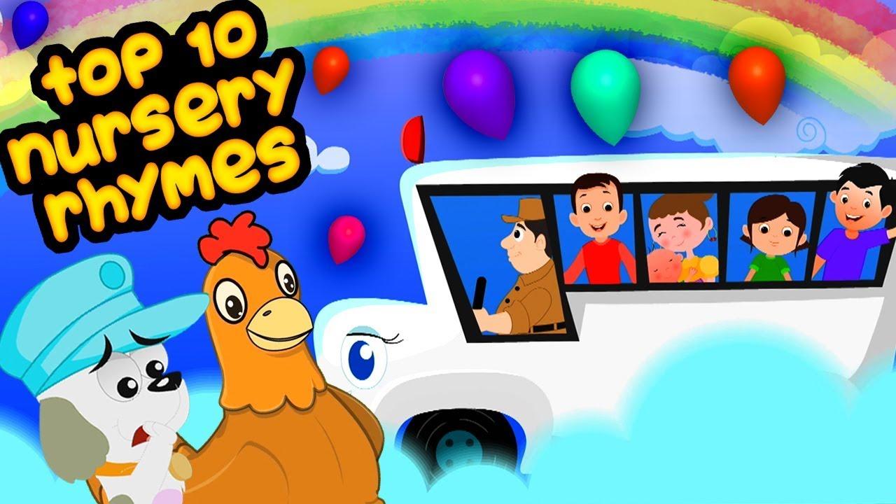 10 лучших стихотворений | рифмы для детей | детские песни | Top 10 Nursery Rhymes | Kids Rhymes