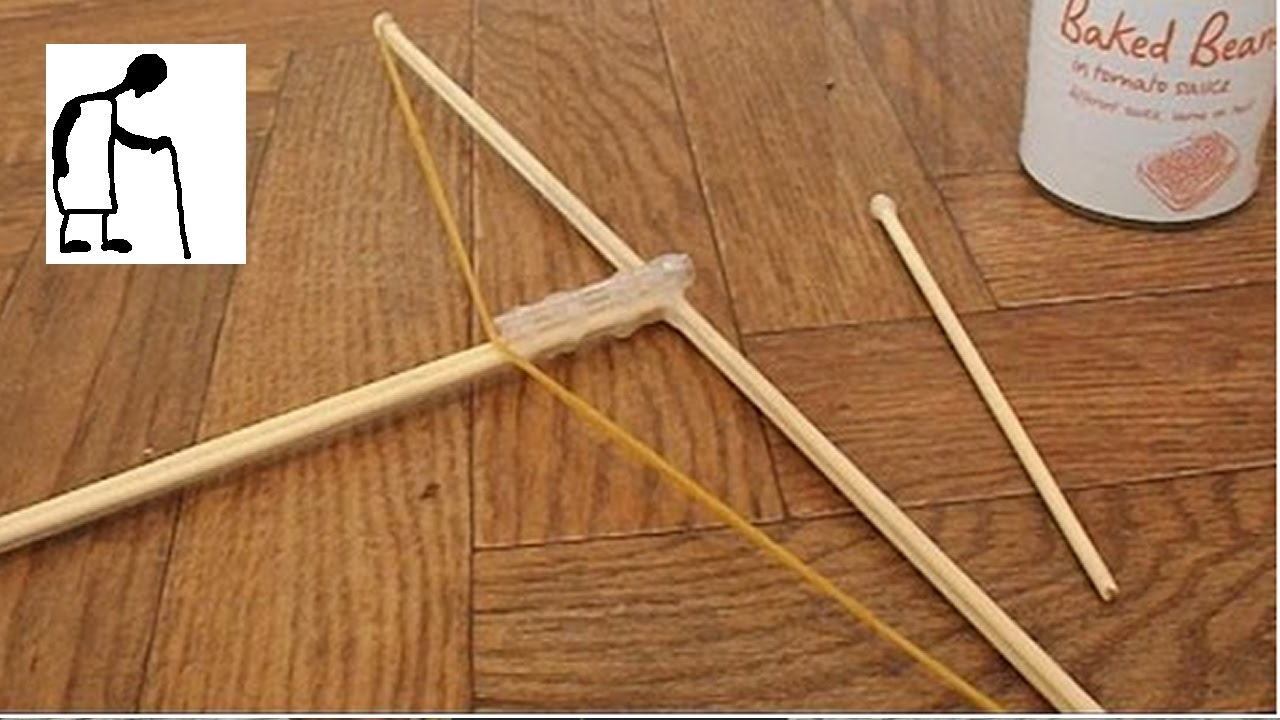 Hey Grandad Can You Make A Rubber Band Crossbow Youtube