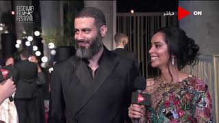 مهرجان الجونة - لقاء خاص مع الفنان محمد فراج وخطيبته بسنت شوقي من على السجادة الحمراء