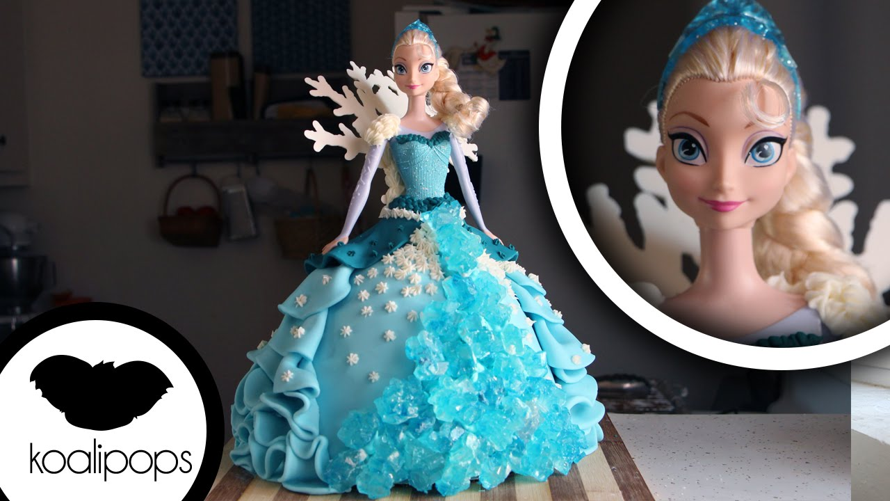 Elsa Doll Cake Decoration : How to Make a  Frozen  Elsa Cake Become a Baking ...