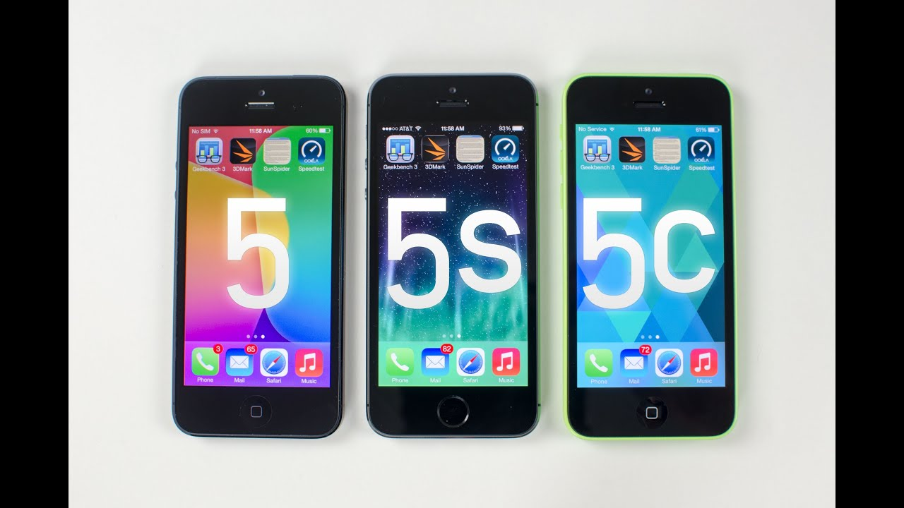 iphone 5c vs 5s iphone 5s vs iphone 5c vs iphone 5 benchmark tests 1256