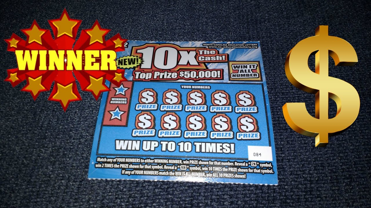 WINNING TICKET* 10X The Cash NC Lottery - YouTube