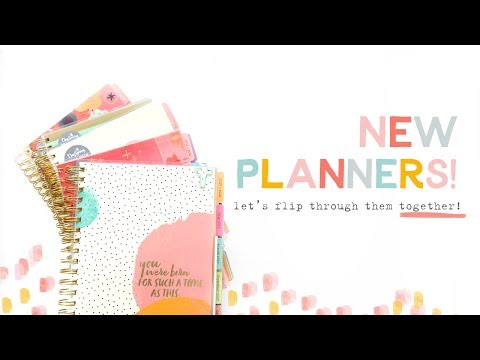 New Planner Flip Through! Check out ALL FIVE!!