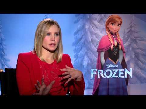 """Frozen: Kristen Bell, voice of """"Anna"""" Official Movie Interview"""