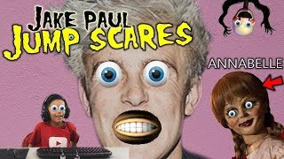 Scary Doll Annabelle and Creepy Jake Paul Jump Scares inside FNAF Roblox Game