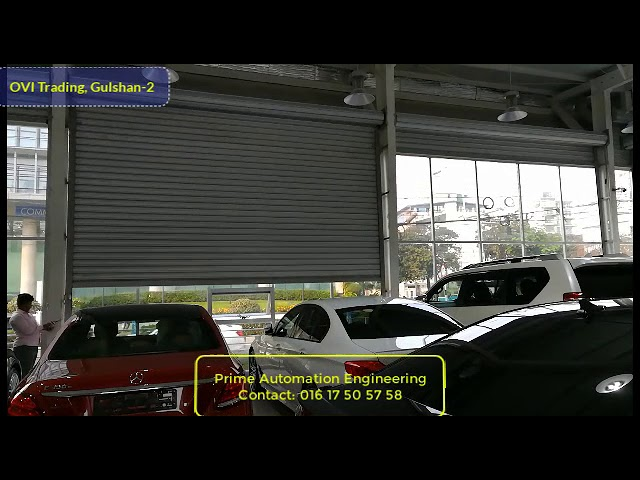 Automatic Rolling shutter for garage, house, factory with Remote and Mobile App control