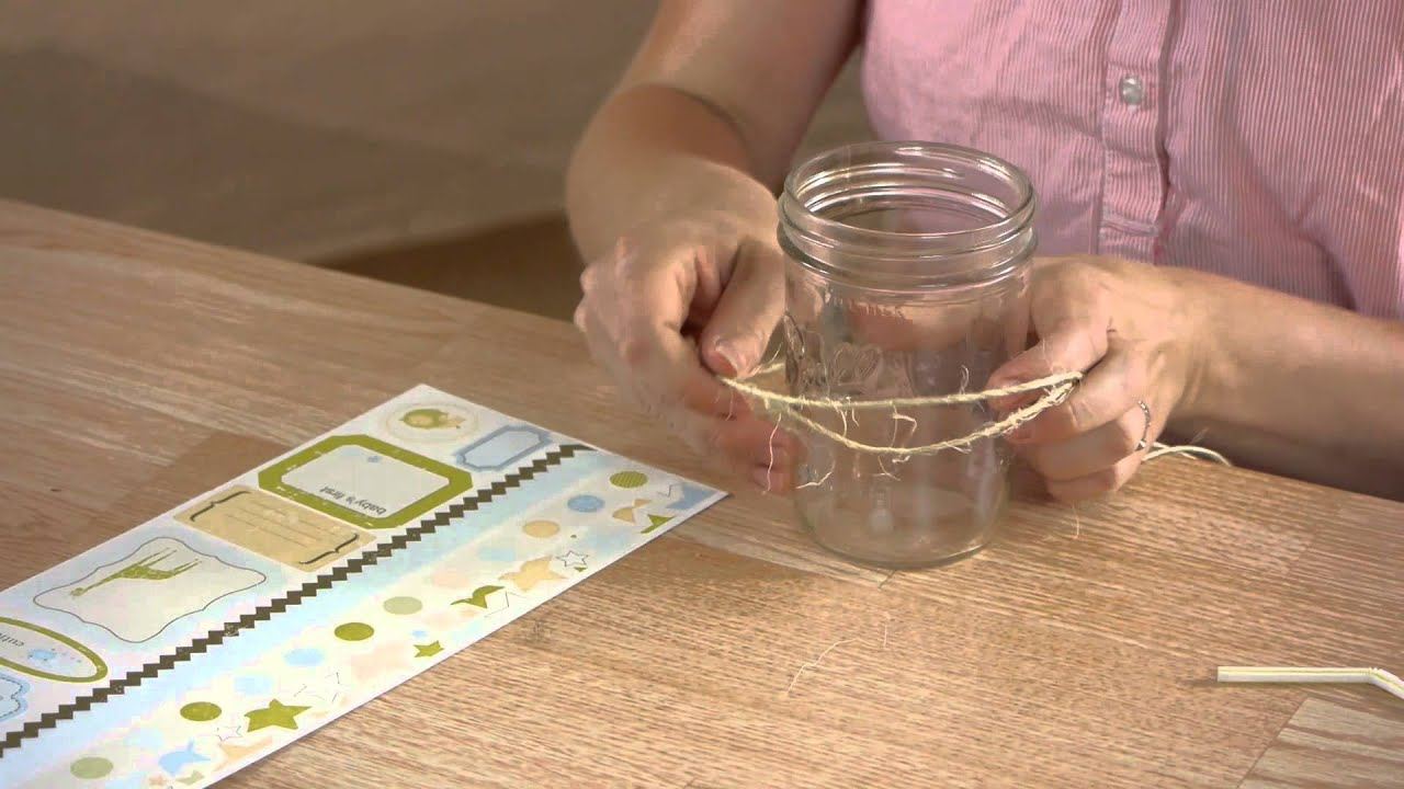 How to Decorate a Mason Jar for a Drinking Glass : Mason ...