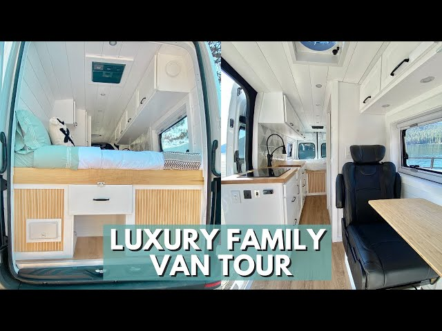 FAMILY VAN TOUR | Custom Crafted Luxury Van Conversion for Family of 3