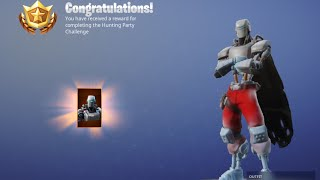 HUNTING PARTY SKIN UNLOCKED A.I.M GAMEPLAY FORTNITE
