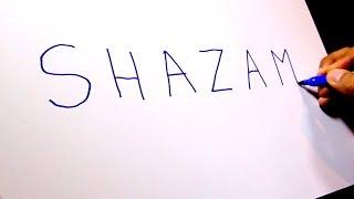"DRAWING SHAZAM from ""SHAZAM""! (fail...kinda...)"