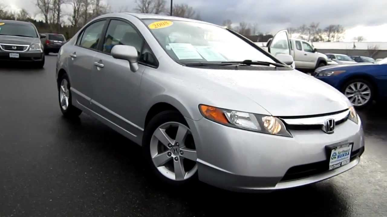 2008 Honda Civic Lx Silver Stock B2071 Walk Around