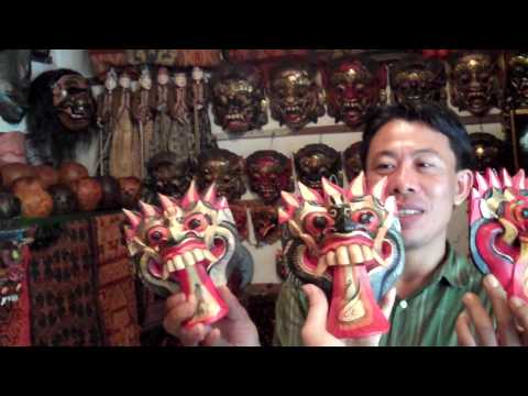 Joe Polish and Lisa Wagner buy Restoration Masks in Bali :)