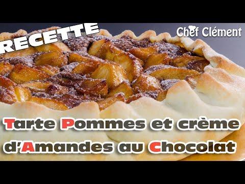recette-gourmande-:-tarte-aux-pommes-caramélisées-et-crème-d'amandes-au-chocolat---chef-clément