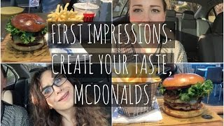 FIRST IMPRESSIONS; Create Your Taste McDonalds | Chucky Chums